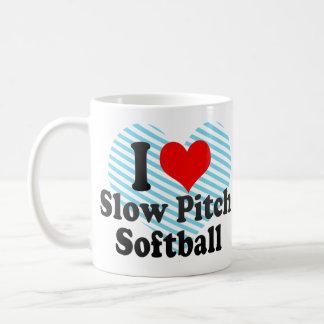 I love Slow Pitch Softball Classic White Coffee Mug