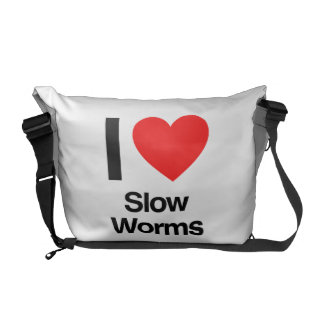 i love slow worms courier bag
