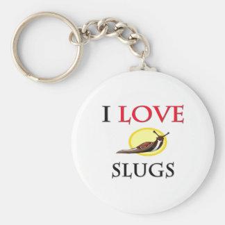 I Love Slugs Basic Round Button Keychain