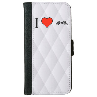 I Love Small Bedrooms iPhone 6 Wallet Case
