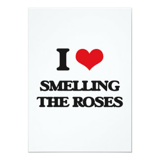 I love Smelling The Roses 5x7 Paper Invitation Card