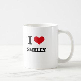 I love Smelly Classic White Coffee Mug