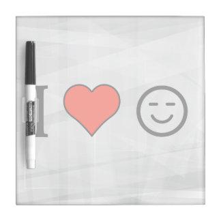 I Love Smileys Dry Erase Whiteboard
