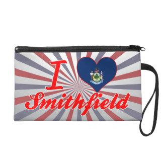 I Love Smithfield, Maine Wristlet Clutch