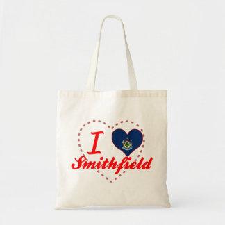 I Love Smithfield, Maine Canvas Bags