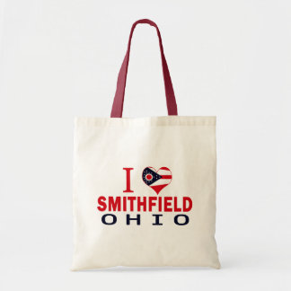I love Smithfield, Ohio Canvas Bags