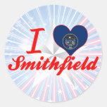 I Love Smithfield, Utah Round Sticker