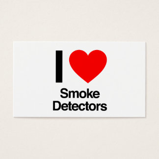i love smoke detectors business card