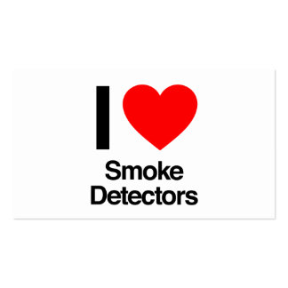 i love smoke detectors Double-Sided standard business cards (Pack of 100)