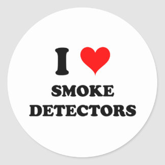 I Love Smoke Detectors Sticker