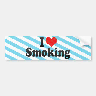 I Love Smoking Bumper Sticker
