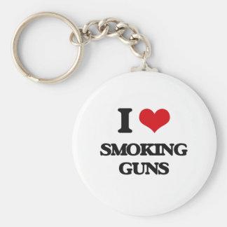 I love Smoking Guns Basic Round Button Keychain
