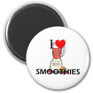 I Love Smoothies 2 Inch Round Magnet