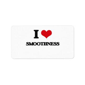 I love Smoothness Address Label
