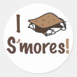 I Love S'mores Classic Round Sticker