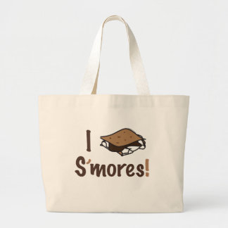 I Love S'mores Large Tote Bag