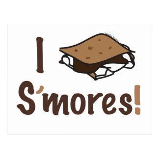 I Love S'mores Postcard