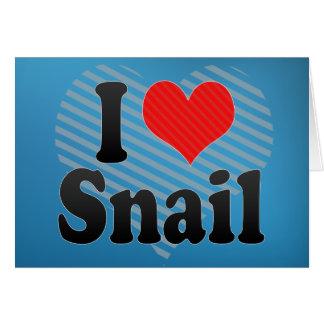 I Love Snail Card