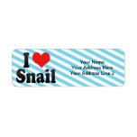 I Love Snail Custom Return Address Label