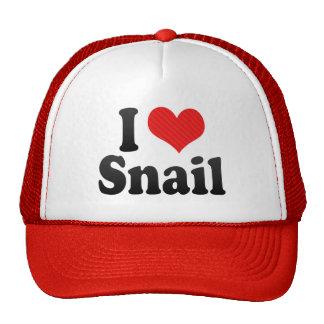 I Love Snail Trucker Hats