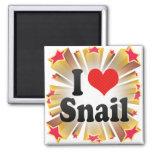 I Love Snail Magnets