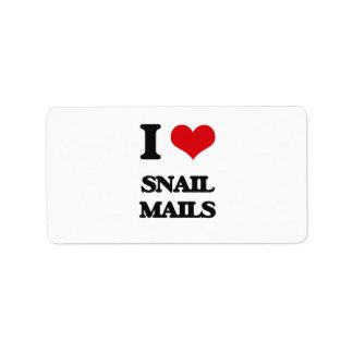 I love Snail Mails Address Label
