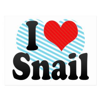 I Love Snail Postcard