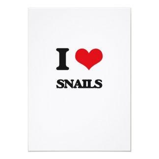 I love Snails 5x7 Paper Invitation Card