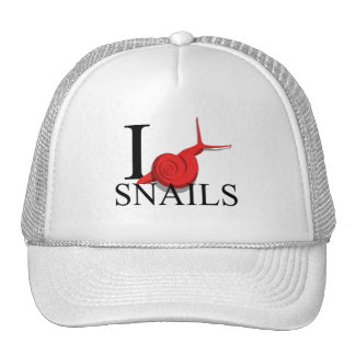 I Love Snails Caps Hats