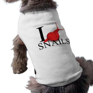 I Love Snails Doggie's Pet T-shirt