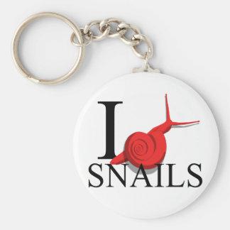 I Love Snails Keychains