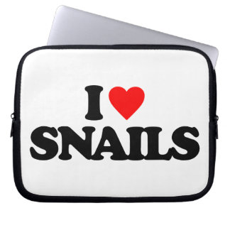 I LOVE SNAILS LAPTOP COMPUTER SLEEVES