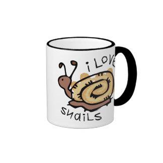 I Love Snails Ringer Mug