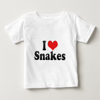 I Love Snakes Baby T-Shirt