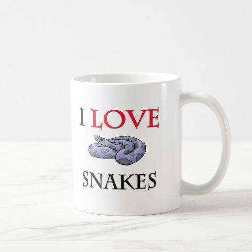 I Love Snakes Coffee Mug