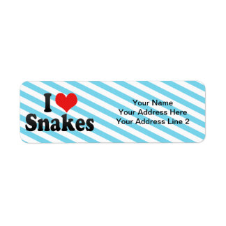 I Love Snakes Label