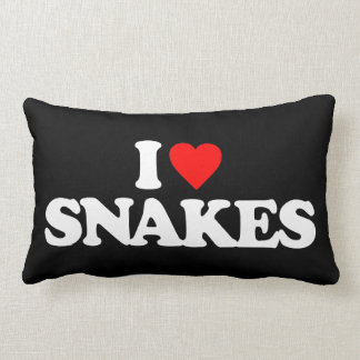 I LOVE SNAKES LUMBAR PILLOW