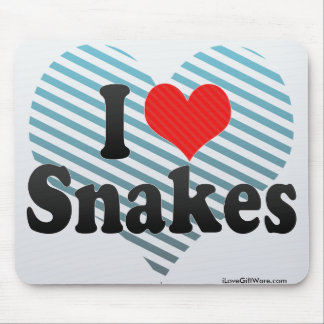I Love Snakes Mouse Pad