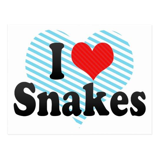 I Love Snakes Postcard