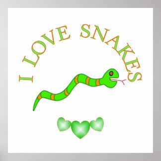 I Love Snakes Poster