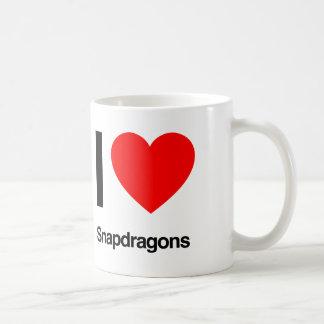 i love snapdragons coffee mug