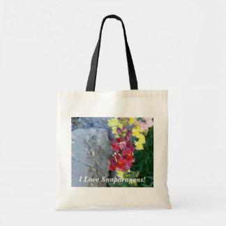 I Love Snapdragons! Tote Bag