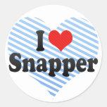 I Love Snapper Sticker