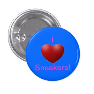 I love sneakers! 1 inch round button