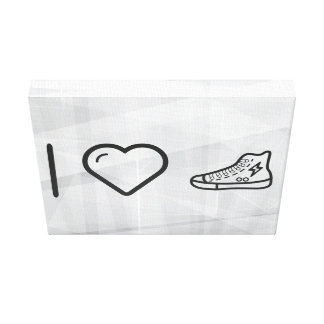I Love Sneakers Canvas Print