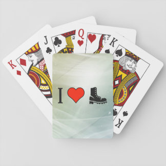 I Love Sneakers Poker Cards