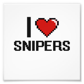 I love Snipers Photo Print
