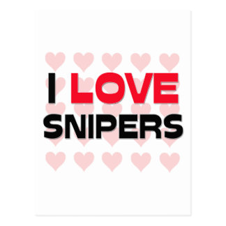 I LOVE SNIPERS POSTCARD
