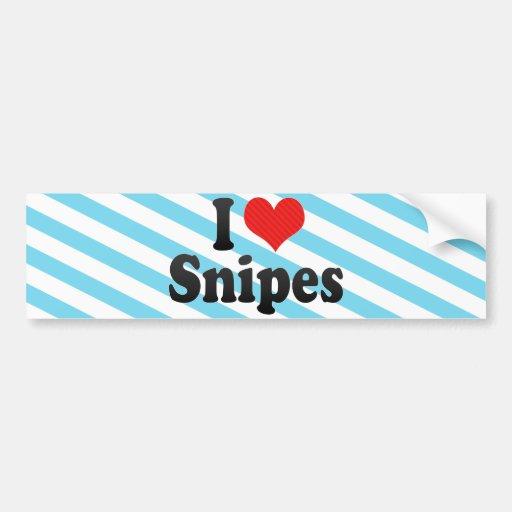 I Love Snipes Bumper Sticker