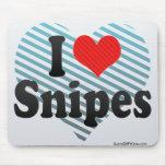 I Love Snipes Mousepads